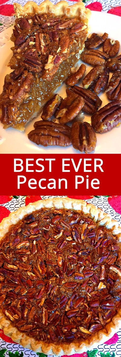 This easy southern pecan pie recipe is amazing! Best of all, this pecan pie recipe doesn't require corn syrup! This is my favorite pecan pie ever!