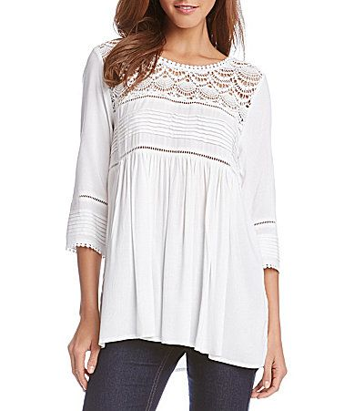 Karen Kane Crochet Trim Top #Dillards