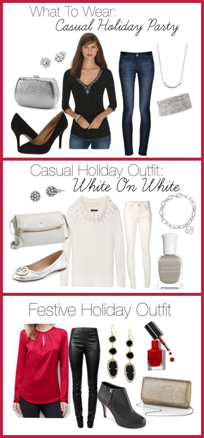 What to wear to a casual holiday party at home. Click through for these great tips and ideas on how to dress for the Holidays! Jo Lynne Shane
