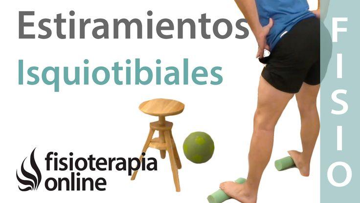 Formas fundamentales de estirar los isquiotibiales.