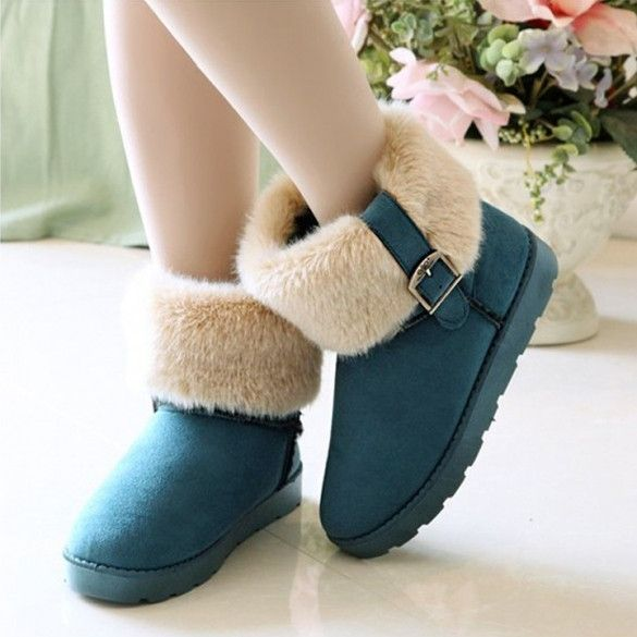 New Fashion Womens Snow Boots Ankle Boots Warm Shoes