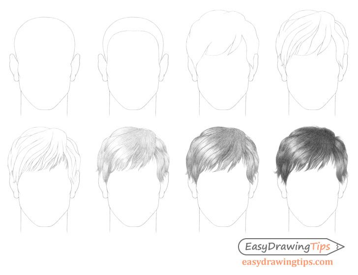 How To Draw Male Hair Step By Step Easydrawingtips In 2020 Drawing Male Hair Drawing Hair Tutorial Guy Drawing