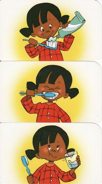 Tanden poetsen, volgorde