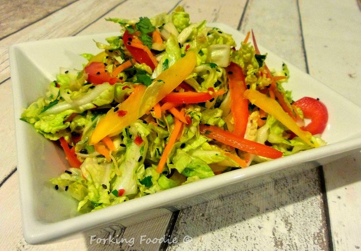 Forking Foodie: Asian-Style Slaw (includes Thermomix method)