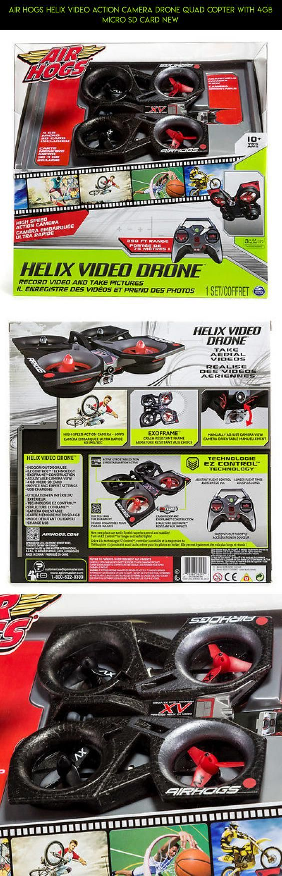 Air Hogs Helix Video Action Camera Drone Quad Copter with 4GB Micro SD Card NEW #drone #racing #air #tech #fpv #products #parts #hogs #camera #camera #gadgets #with #plans #kit #drone #technology #shopping