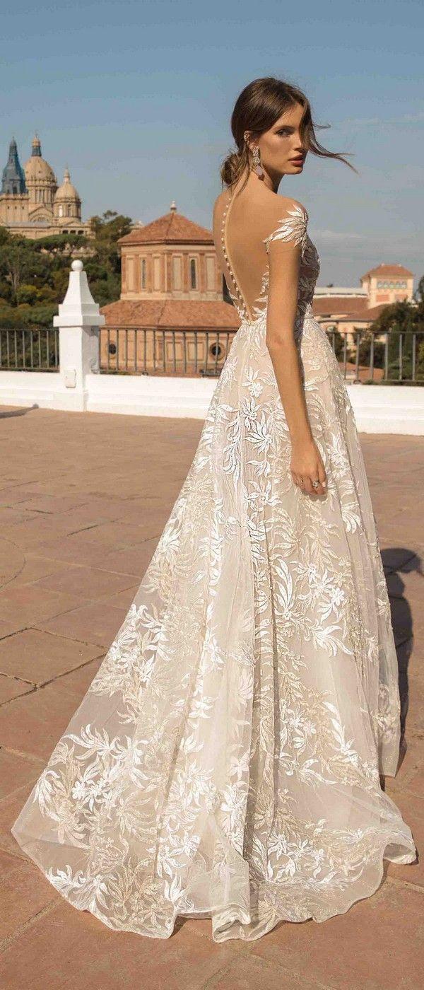 671da3cdf0 MUSE by Berta Daphne Wedding Dress 2019 Barcelona Collection back view