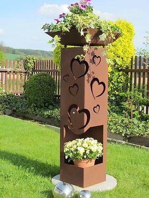 Details Zu Edelrost Herz Stecker Gross 60cm Rost Gartendeko Metall
