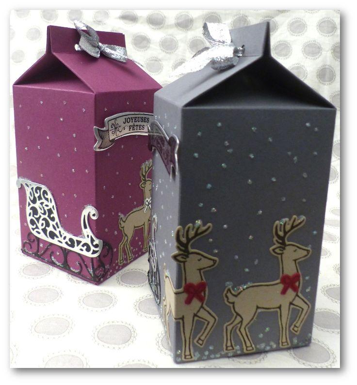 """Coul'Heure Papier: [Série Insta' Pochette] Carton à Lait """"Nuit de Noël"""" [Tutoriel]"""