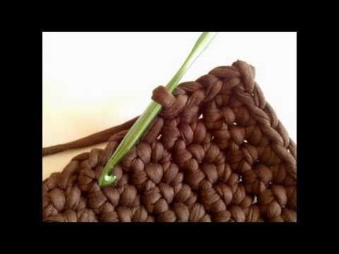 Cómo hacer un cesto cuadrado de trapillo (Tutorial DIY) - YouTube