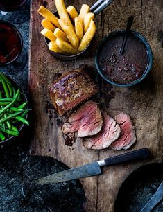 Beef Fillet Recipe with Port Sauce and Chips Check out this easy recipe for this show-stopping piece of beef fillet. This decadent meal with punchy port sauce is sure to impress your loved ones. Serve with super crispy oven chips on the side