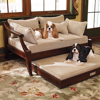 Mahogany Pet Trundle Bed Frontgate