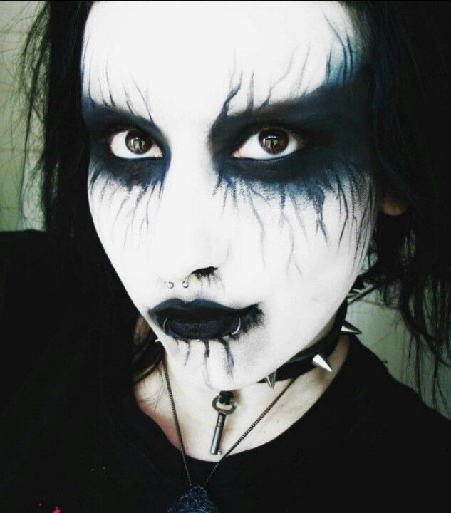 27 best images about goth metal makeup fx contacts on for Gothic painting ideas