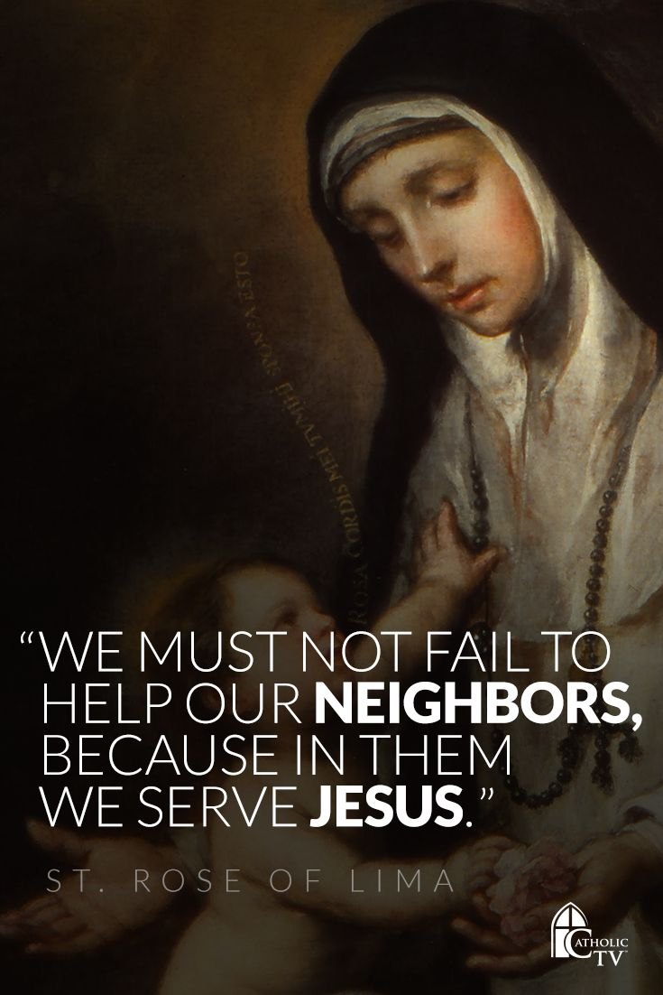 Saint Rose of Lima is patron for the resolution of family quarrels, and her feast is today. Saint Rose, pray for us!