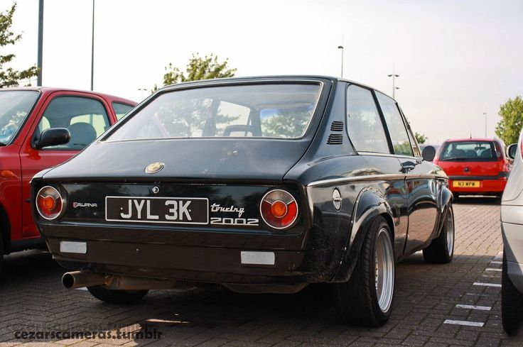 BMW 2002 Touring. I actually own one of these. The 2002's M10 engine looks very modest and 1960s-ish - 2L, 100HP, SOHC - but with modifications BMW turbocharged it and ran it in F1 cars at 1380HP+ as the M12/7. In a streetable and non-grenade configuration, 200HP n/a and 350HP turbocharged is within easy reach, with 450 available... but much more is not terribly useful in this under-1-ton car since the grip just isn't there.