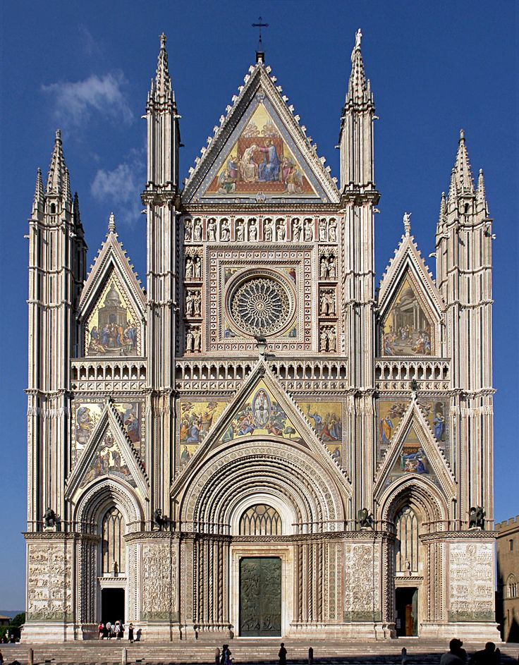 The Cathedral of Orvieto is a large 14th-century Roman Catholic cathedral situated in the town of Orvieto in Umbria, central Italy.