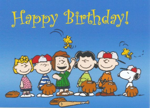 Charlie Brown Peanuts Gang Snoopy Happy Birthday by MagnetsbyAbby