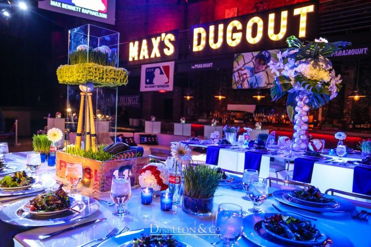 Baseball bar mitzvah party by the showplace ny floral