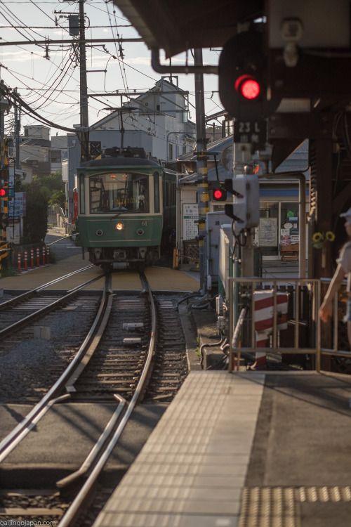 Japan:  Taking the train in Kamakura