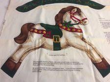 VIP Cranston Rocking Horse Doll Christmas Crafts Vtg Cut Sew Stuff Panel