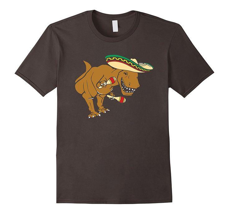 T-Rex Wearing Sombrero T Shirt Funny Dinosaur Shirts