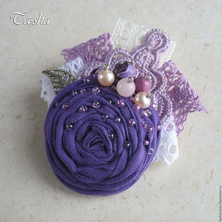 """Купить """"Люпин"""" брошь бохо цветок фиолетовый - брошь, брошь сиреневая, брошь…"""