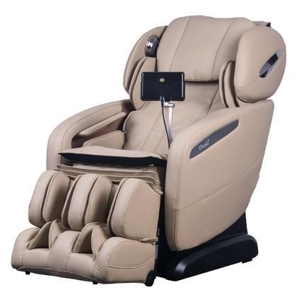 OS-Pro-Maxim IVORY Massage Chair with SL Track Roller 12 Auto-Programs 6 Massage Styles Zero Gravity Position Multi-Language Option and Hip Air Massage in Ivory