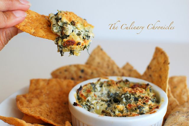 Mediterranean Spinach Artichoke Dip by The Culinary Chronicles, via Flickr