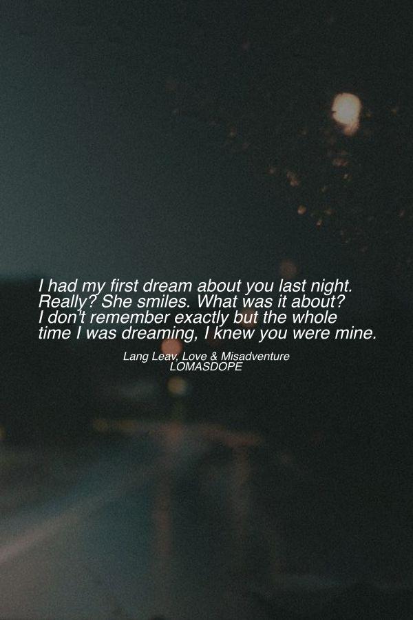 Lang Leav, Love and misadventure