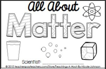This 23-page science mini-book was created to help with the Next Generation Science Standards for 2nd grade in structure and property of matter.   It covers the following principles: what is matter, different states of matter, how matter can change, and observable properties of matter.