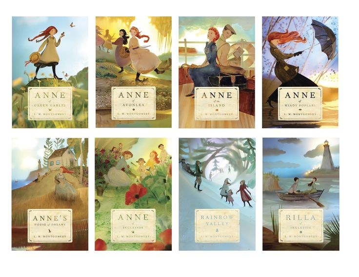 Pretty new covers for Anne of Green Gables series.