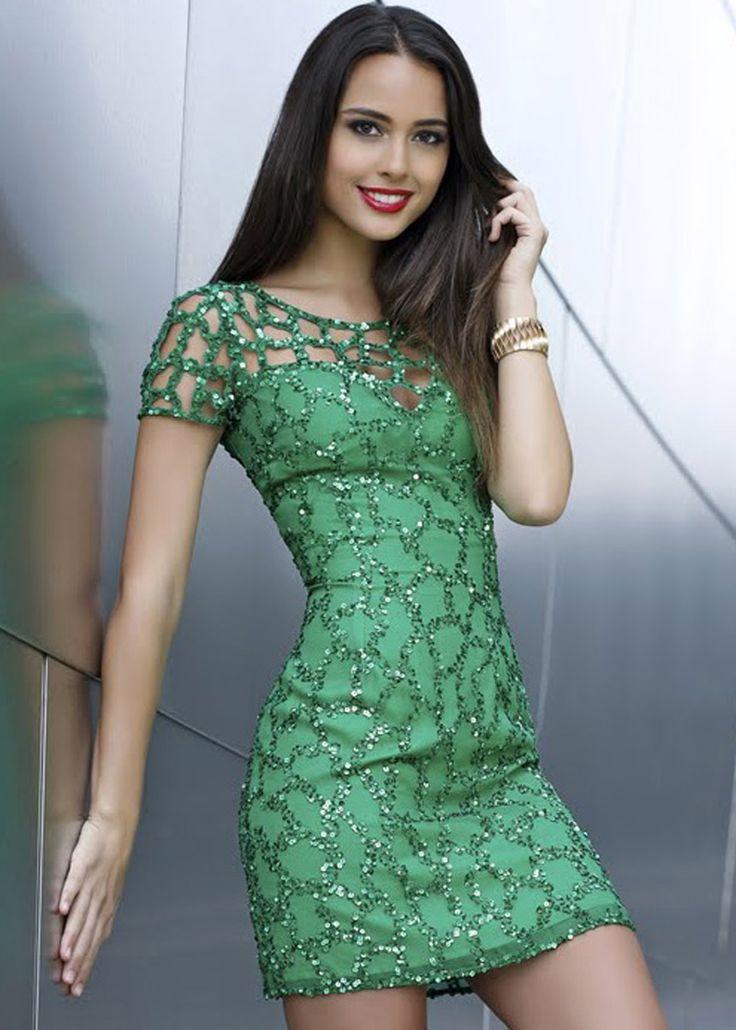 Shail K. KL3240 Beaded Emerald Green Party Dress