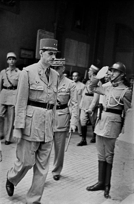 SYRIA. Damas. 1942. General DE GAULLE, head of non-occupied sector of France#18juin2015 #Liban #Appel18juin #commémoration #AmitiéLibanoFrançaise #histoire #CharlesdeGaulle