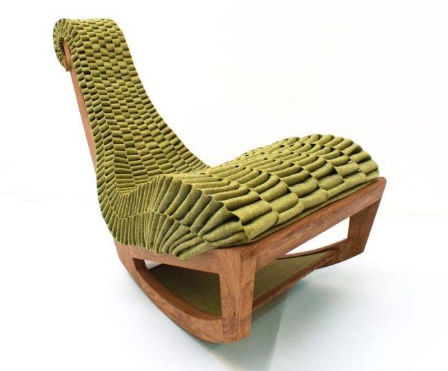 Sessel Skulpturell Design Massivholz-Gestell geflochten Sitz-ergonomisch