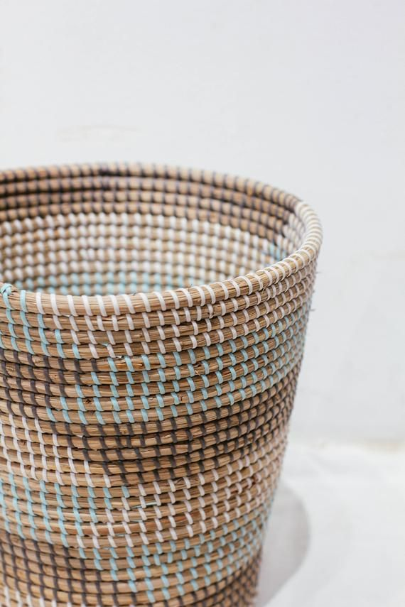 Handwoven Big Laundry Basket Handmade Natural Weave Seagrass