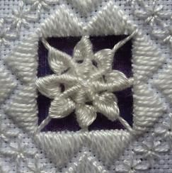 The Hardanger Heart, design in an old  'Classic Stitches' magazine.  It's a Thea Dueck desi...