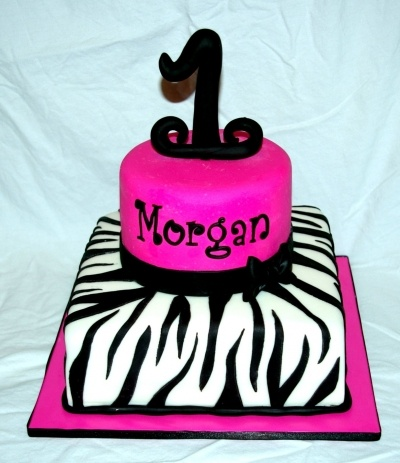 Hot pink & zebra cake By jardot22 on CakeCentral.com
