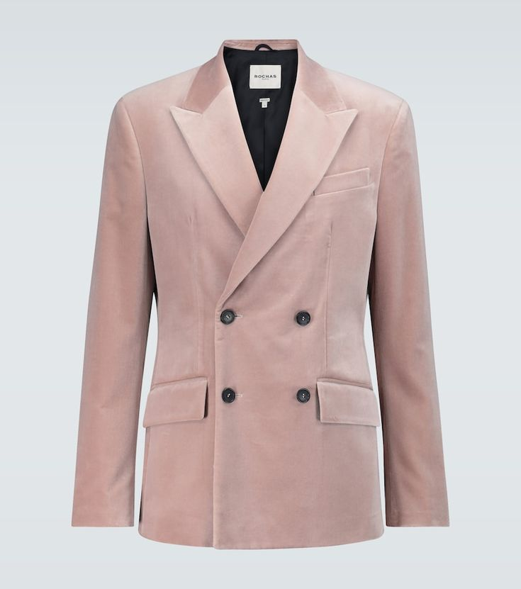 Ranieri Velvet Blazer In 2020 Pink Blazer Double Breasted Double Breasted Suit Jacket