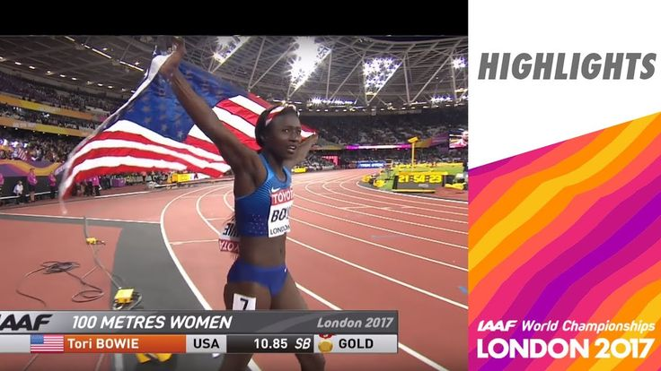 The Sports Track: IAAF World Championships' Tori Bowie becomes first double Gold medalist at this World Champs. WCH London 2017 Highlights - 100m - Women - Final - Tori Bowie wins Individual AND relay in 100m...2-Time IAAF Gold Medalist Tori Bowie 8/7/17