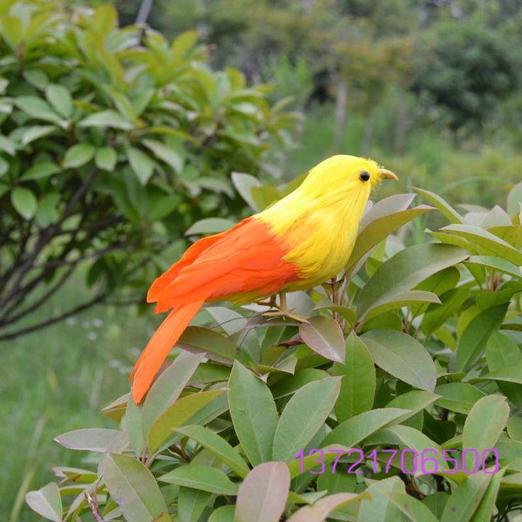 Alibaba グループ | AliExpress.comの 庭の装飾品 からの &nbsp ...  注:あなたが見る鳥の足を持って鉄線に作る鳥steable 中の 手作り黄色鳥ショーケース装飾phtogragh小道具arificial鳥庭飾りギフト鳥