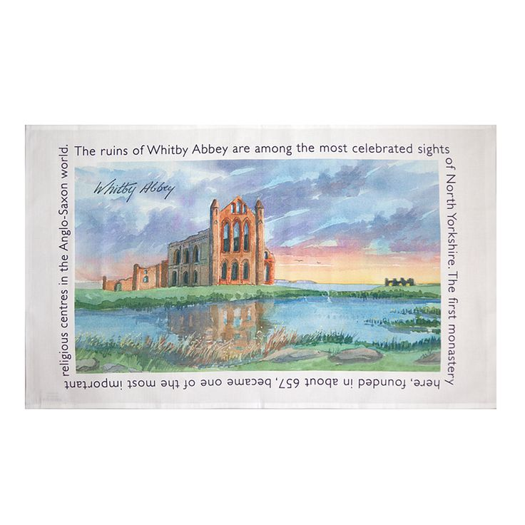 The first monastery of the immense Whitby Abbey was founded in 657 AD. The second monastery lasted until it was destroyed by Henry VIII in 1540. Though the abbey fell into ruin, it remained a prominent landmark for sailors and helped inspire Bram Stoker's Dracula. Never again will the drying up be dull, this Whitby Abbey tea towel is the perfect gift or souvenir for someone that has recently visited Whitby Abbey and loved the beauty of the monument.