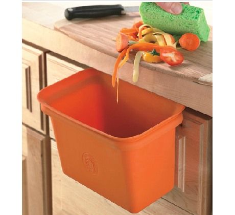 Scrap Happy $15 a drawer-attachable trash can to keep counters clear and compost bins happy