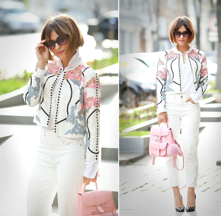 chic spring outfit with grafea backpack by Galantgirl.com