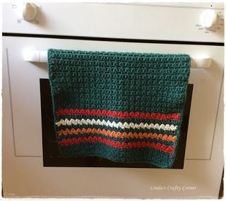 Crochet Kitchen Towel/Dishcloth ~ free pattern ᛡ