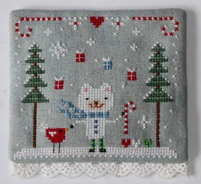 Christmas bear by flossbox. Cross stitch version