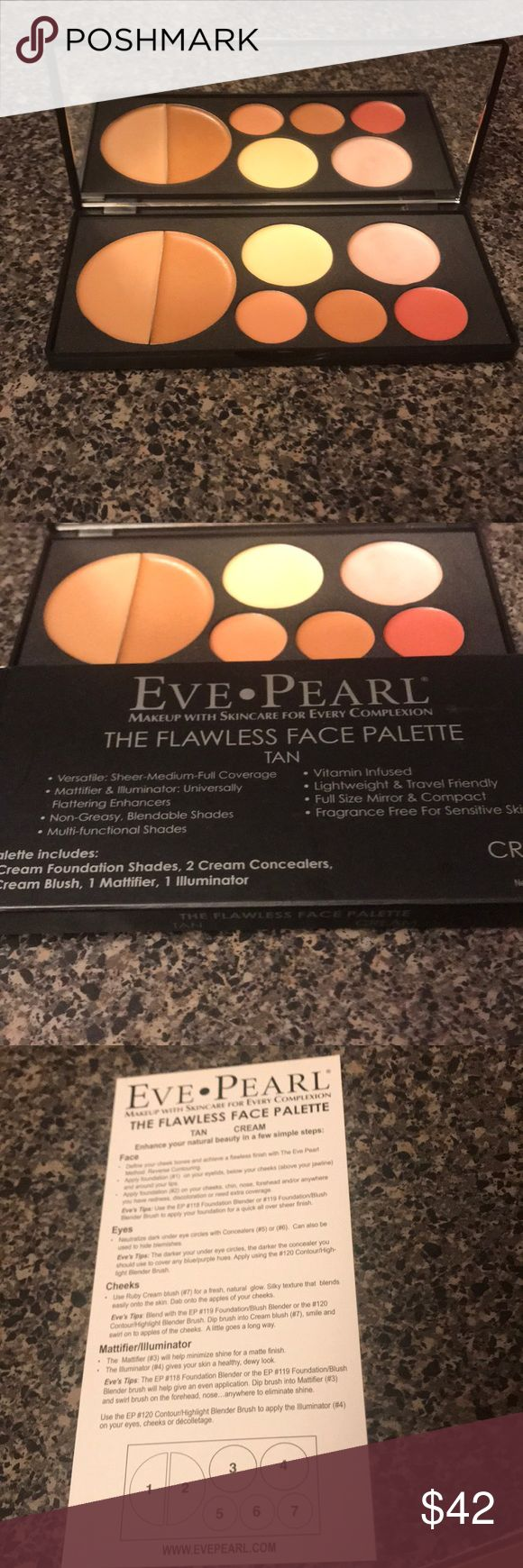 Eve Pearl Flawless Face Palette Tan Great product! Eve Pearl Makeup