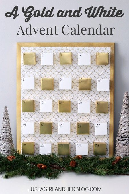 I love this beautiful Advent calendar! It would be perfect for the kids, and she even gives you free printables! | JustAGirlAndHerBlog.com