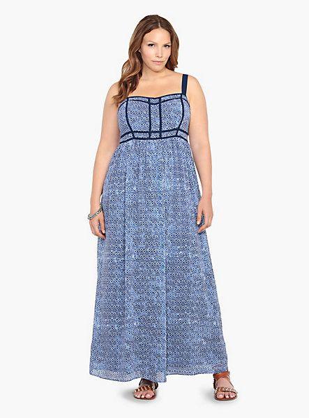 Plus size long dresses at torrid