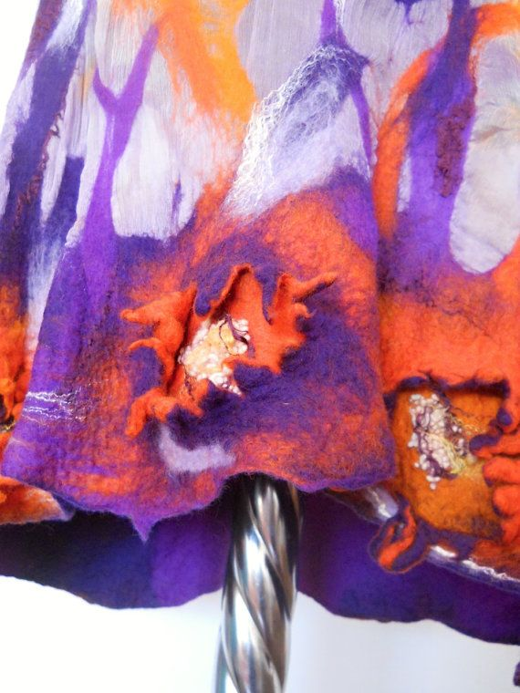 Original dress  Purple dress  Silk dress  Wool by FeltNunoFelted