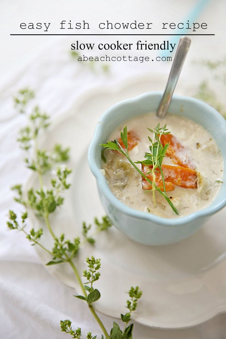 recipe fish chowder crockpot slow cooker friendly
