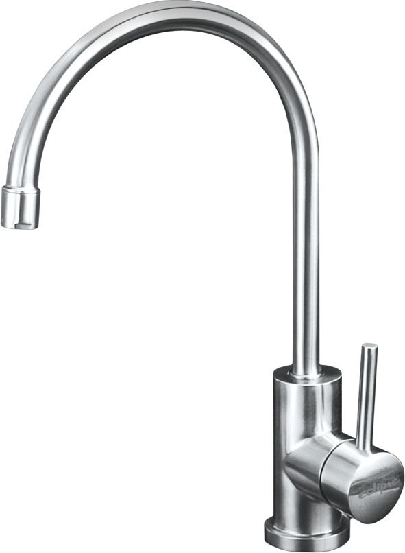 Eclipse Stainless® Grifería Serie One Piece Modelo KS2930.  100% Acero Inoxidable.  Eclipse Stainless® Kitchen Faucet Mod. KS2930. 100% Stainless Steel. www.eclipsestainless.com.mx